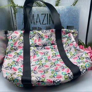 LeSportsac Pink Butterfly Tote